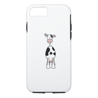 Black and White Cow Cartoon. Front. iPhone 8/7 Case