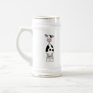 Black and White Cow Cartoon. Front. Mug