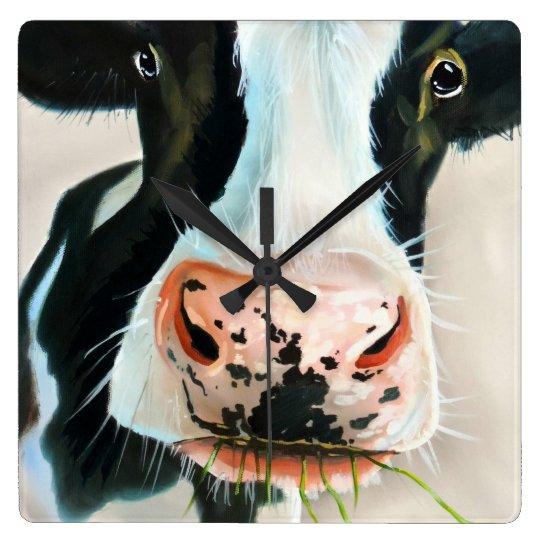 Black and white cow face Gordon Bruce art