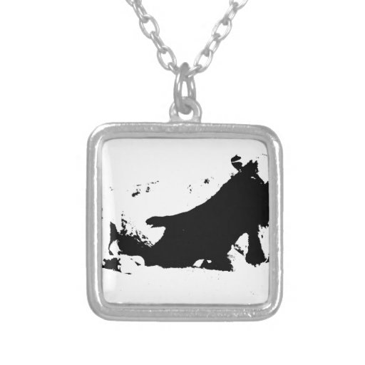 Black and White Cow in Ink Pendants