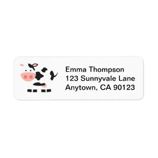 Black and White Cow Labels