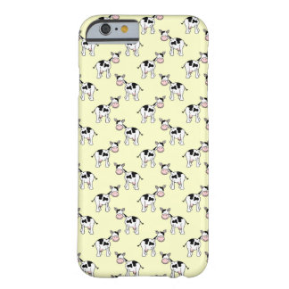 Black and White Cow Pattern on Light Yellow Barely There iPhone 6 Case