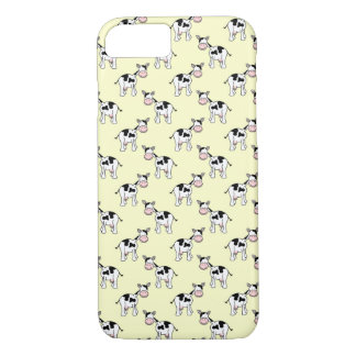 Black and White Cow Pattern on Light Yellow iPhone 8/7 Case