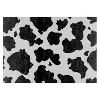 Black and white cow print cutting board