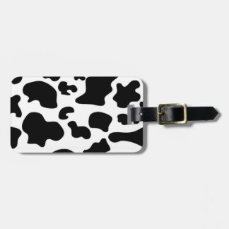 Black and White Cow print Luggage Tag