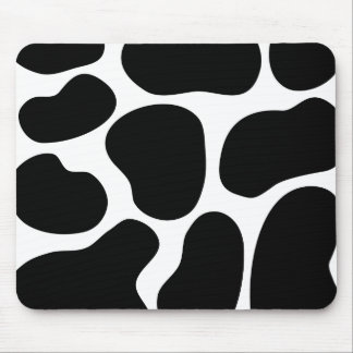 Black and White Cow Print Pattern. Mouse Pad