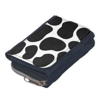 Black and White Cow Print Pattern. Wallet