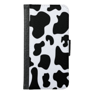 Black and White Cow print Samsung Galaxy S6 Wallet Case