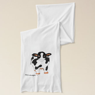 Black and White Cow Scarf
