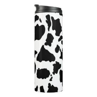 Black and White Cow Skin Animal Print Thermal Tumbler