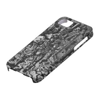 Black and white cowboy apple 5/5s case