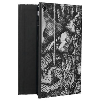 Black and white cowboy apple ipad air case