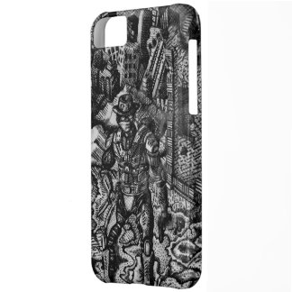 Black and white cowboy Apple iphone 5c case
