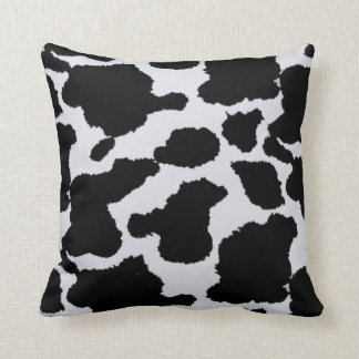 black and white cowhide throw pillow cushions