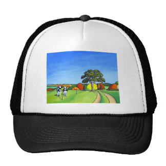 Black and White Cows by Country Lane Cap