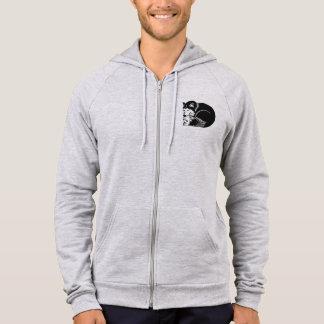 Black and White Cozy Husky Men's Fleece Zip Hoodie