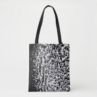 Black and White Crater Textured Cloth Bag