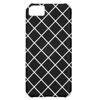 Black and White Crisscross Pattern iPhone 5C Case