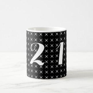 Black And White Cross Basic White Mug