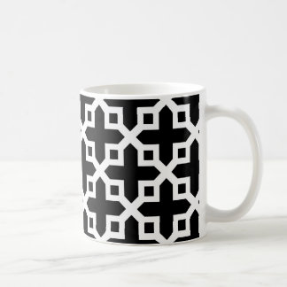 Black and White Cross Section Pattern Mug