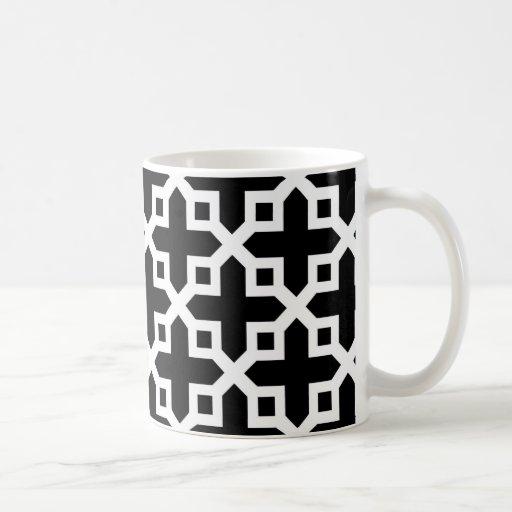 Black and White Cross Section Pattern Mug