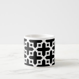 Black and White Cross Section Pattern Espresso Mug