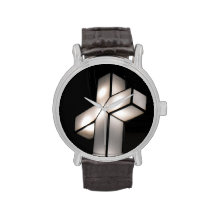 Black and White Cross Watch