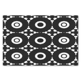 Black and White Crosses and Circles tissue paper