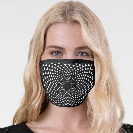 Black and white crown chakra mandala face mask | Zazzle.co.uk