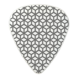 Black And White Cube Pattern Acetal Guitar Pick