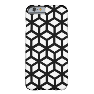 Black And White Cube Pattern Barely There iPhone 6 Case