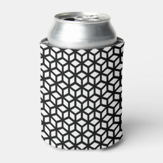 Black And White Cube Pattern Can Cooler