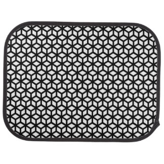 Black And White Cube Pattern Car Mat
