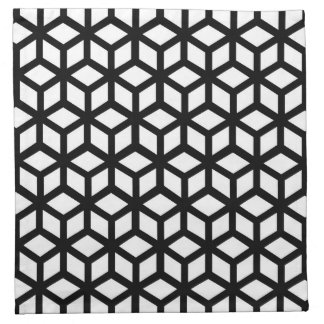 Black And White Cube Pattern Printed Napkin