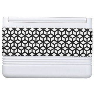 Black And White Cube Pattern Igloo Cooler