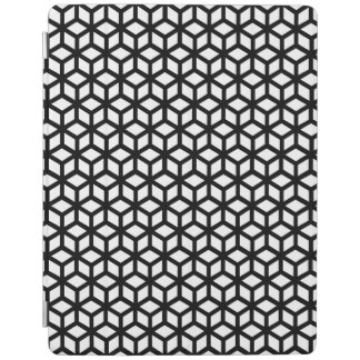 Black And White Cube Pattern iPad Cover