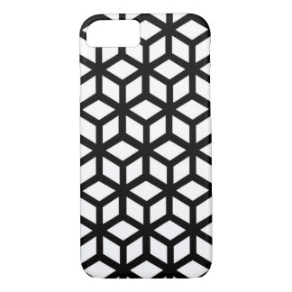 Black And White Cube Pattern iPhone 8/7 Case