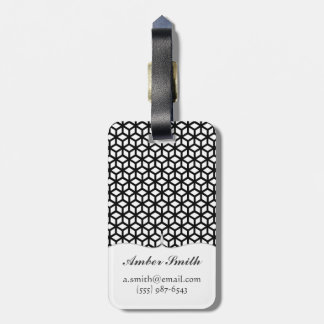 Black And White Cube Pattern Luggage Tag