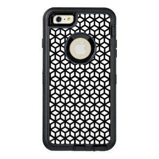 Black And White Cube Pattern OtterBox Defender iPhone Case