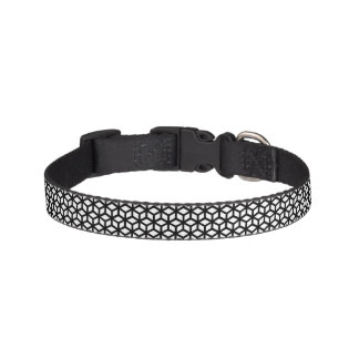 Black And White Cube Pattern Pet Collar