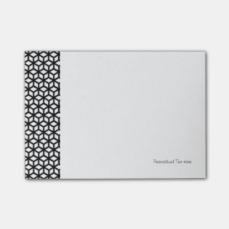 Black And White Cube Pattern Post-it Notes