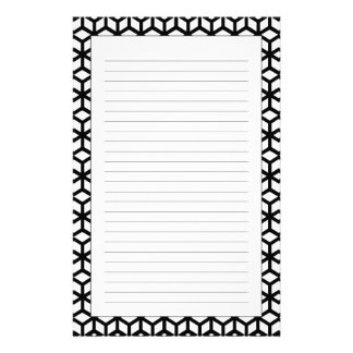 Black And White Cube Pattern Stationery