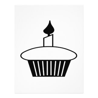 Black And White Cupcake 21.5 Cm X 28 Cm Flyer