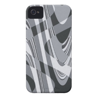Black and White Curves Case-Mate iPhone 4 Cases