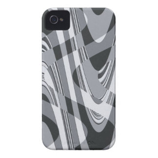 Black and White Curves iPhone 4 Covers