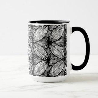 Black And White Curvy Stripes Mug