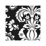Black and White Custom Damask Gallery Wrap Canvas