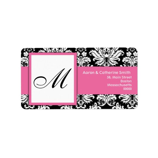 Black and White Customisable Address Labels