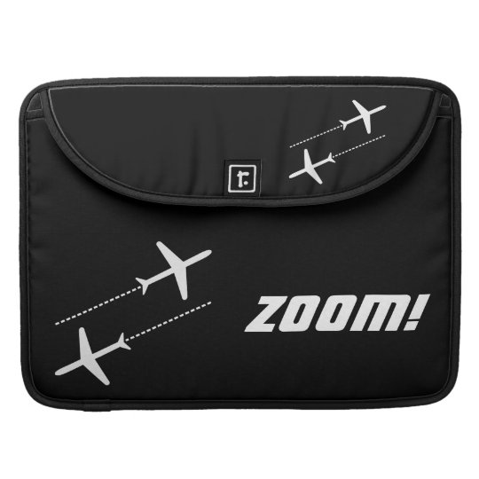 Black and White Customisable Retro Aircraft Design MacBook Pro Sleeve
