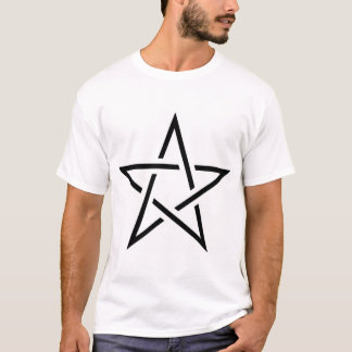 Black and White Cut Pentagram T-Shirt